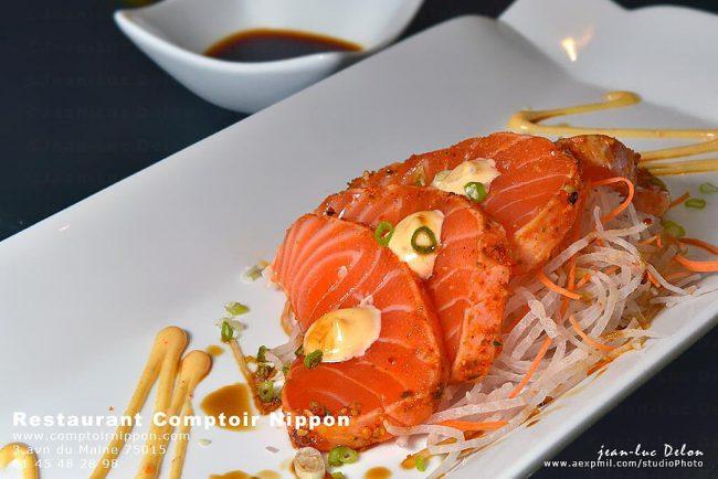 La Fraicheur du Sashimi de saumon